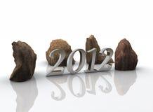 2012 - nieuw jaar Stock Foto's