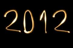 2012, nieuw jaar Stock Afbeelding
