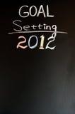 2012 nieuwe jaardoelstellingen Stock Fotografie