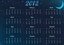 2012 Night Calender_eps Stock Photography