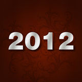2012 number. Happy new year 2012 typo created with the help of Photoshop Royalty Free Stock Image