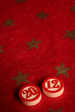 2012 - numeri di bingo Fotografie Stock