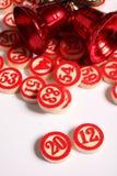 2012 - numeri di bingo su bianco Immagine Stock Libera da Diritti