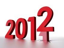 2012 nuovi anni Fotografia Stock Libera da Diritti
