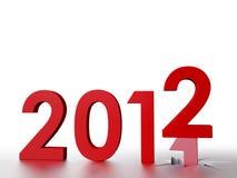 2012 nuovi anni Fotografia Stock