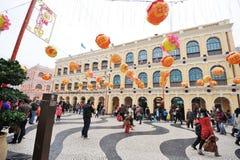2012 nuovi anni cinesi a macau Fotografie Stock Libere da Diritti