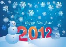2012 - Nuovo anno felice Immagini Stock