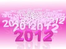 2012 nya år Fotografering för Bildbyråer