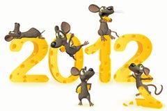 2012 nya år Arkivbild