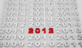 2012 nya år Arkivbilder