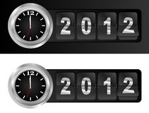 2012 nya år vektor illustrationer
