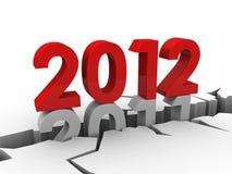 2012 nya år stock illustrationer