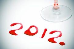 2012, o ano novo Fotografia de Stock Royalty Free