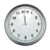 Almost 2012 o'clock. 3D render of clock a few seconds away from 2012 royalty free illustration