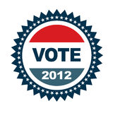 2012 odznak głosowanie Zdjęcie Stock