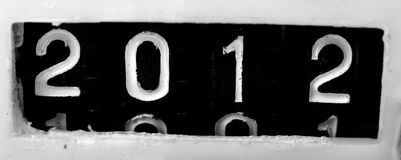 2012 old mechanical counter Royalty Free Stock Photo