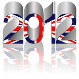 2012 Olympic game. New Year 2012 written for Olympic games in London - UK Royalty Free Illustration