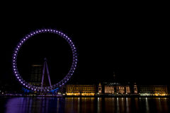 2012 Olympic Previews. London 2012 Olympic Preview: The Millennium Wheel and County Hall Royalty Free Stock Images