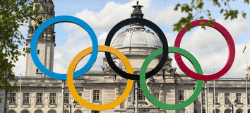 The 2012 olympic rings Stock Image