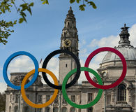 The 2012 olympic rings Stock Images