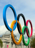 The 2012 olympic rings royalty free stock images