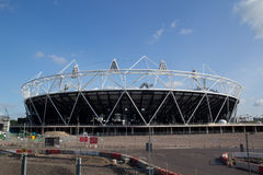 2012 Olympic Stadium. LONDON- MAY 31: The London Olympic 2012 stadium nears completion in Stratford London on May 31, 2011 Royalty Free Stock Photo