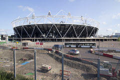 2012 Olympic Stadium. LONDON - MAY 31: The 2012 London Olympic stadium nears completion in Stratford London on May 31, 2011. The Stadium will have a capacity of Royalty Free Stock Photography