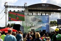 2012 olympische Proeven Stock Fotografie