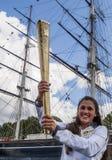2012 Olympische Spiele in London - Fackel-Relais Lizenzfreie Stockbilder