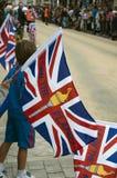2012 Olympische Vlam - het Relais Warwick van de Toorts Stock Foto's