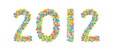 2012 ont effectué des confettis Image libre de droits