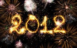 2012 ont effectué des étincelles Images stock