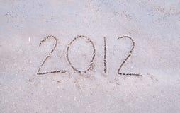 2012 op het strand Stock Afbeeldingen