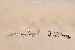 2012 op het strand. Royalty-vrije Stock Afbeeldingen