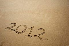 2012 op zand Stock Afbeeldingen