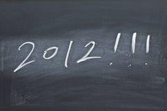2012 op zwarte raad Stock Afbeeldingen