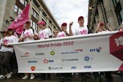 2012, orgullo de Londres, Worldpride Imagen de archivo