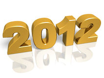 2012 oro. Golden New year 2012. 3d render. Very High resolution Stock Images