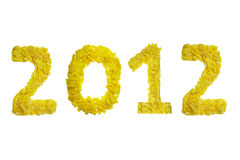 2012 pasta. 2012 number made with pasta for new year Stock Image