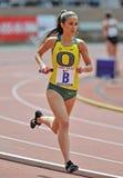 2012 Penn Relais - Abstandsseitentrieb der Oregon-Frauen Lizenzfreie Stockfotografie