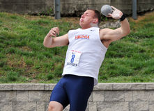 2012 Penn Relays - mens college shot put Stock Images