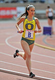2012 Penn Relays - Oregon womens distance runner Royalty Free Stock Photography