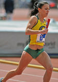 2012 Penn Relays - Oregon womens distance runner Royalty Free Stock Images