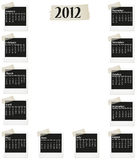 2012 photo calendar. With months in photos Vector Illustration