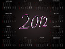 2012 pięknych kalendarzy zdjęcia stock