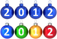 2012 piłek baubles bożych narodzeń nowy ustalony rok Zdjęcia Royalty Free