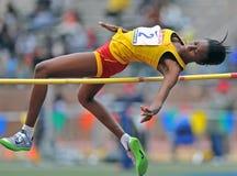 2012 pista - alto salto delle ragazze Fotografia Stock