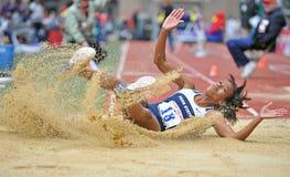 2012 piste - long saut de filles Images stock