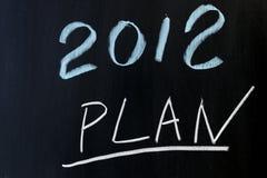 2012 plannen Stock Fotografie