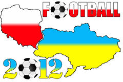 2012 Poland & Ukraine maps. 2012 Poland & Ukraine maps on the white background Stock Image